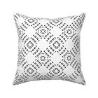 Moroccan Modern Farmhouse Throw Pillow Cover w Optional Insert by Roostery