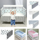 4PCS/Set Baby Safe Crib Bumper Pads Washable Portable Mini Crib Liners Padding