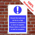 Bathroom cleanliness hotel safety sign HOT15 durable and weatherproof B&B Guest