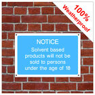 Solvent based products information sign INF69 Durable and weatherproof