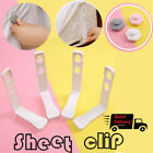 4pcs Bed Sheet Fasteners Mattress Cover Gripper Clip Fastener Grip Peg Holder image