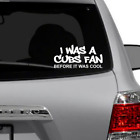 Chicago Cubs Fan before cool Window decal Sticker white vinyl FREE SHIPPING on Ebay