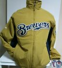 MILWAUKEE BREWERS JACKET NEW W TAGS MAJESTIC AUTHENTIC COLLECTION  MENS MEDIUM