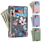 For Women RFID Blocking Leather Wallet Credit Card Holder Case with ID Window image
