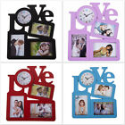 Love Design Wall Clock For Your Loved One The Clock Has 3 Photo Frame 36 x 30 cm