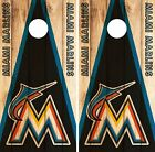 Miami Marlins Cornhole Skin Wrap MLB Wood Decal Vinyl Board Logo DR589 on Ebay
