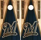 Milwaukee Brewers Cornhole Skin Wrap MLB Wood Decal Vinyl Board Logo DR590 on Ebay