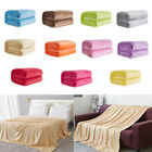 JU_ EP_ Soft Solid Color Thickened Warm Flannel Blanket Sofa Bedroom Throw Rug image