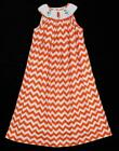 Boutique Girls Smocked Sea Horse Maxi Dress Chevron BY: Lolly Wolly ~ 7 NWOT kg