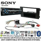 Sony MEX-N4200BT Car Stereo Radio Bluetooth Pandora CD Dash Install Mount Kit