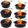 Outdoor Garden Fire Pit with Grill BBQ Firepit Metal Round Stove Patio Heater