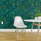 Wallpaper Roll Emerald Forest Woodland Green Nature Trees Crystals 24in x 27ft