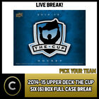 2014-15 UPPER DECK THE CUP HOCKEY 6 BOX (FULL CASE) BREAK #H513 - PICK YOUR TEAM $82.0 CAD on eBay