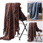 Reversible Tassel Throw Blanket Woven Soft Warm for Sofa Home Bed Home Decor image