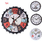Gift Mute Wall Clock Bottle Cap Indoor Decorative Pointer Hanging Iron Home