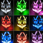 Halloween LED Glow Masks 4 Modes Light Up The Purge Movie Party Costume Props