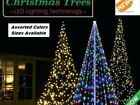 FLAGPOLE Christmas 6 Ft LED Light Holiday Decoration White  Blue Green Red Multi
