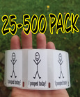 """""""i Pooped Today"""" Happ Guy 25-1000 Pack Stickers Gag Prank Sticker Decal Meme"""
