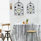 Hanging Wall Clock  Iron Made Ornament Bird Cage Decoration Home Decor