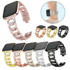 For Fitbit Versa 2 Band Stainless Steel Watch Bling Diamond Bracelet Wrist Strap image