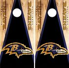 Baltimore Ravens Cornhole Skin Wrap NFL Wood Decal Vinyl Board Logo Art DR607 $39.99 USD on eBay