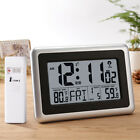 Large LCD Screen Desk Wall Clock 12/24 Hours Display Snooze Alarm Temperature US