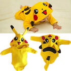 Toddler Baby Girl Boy Pikachu Romper Jumpsuit Outfits Halloween Cosplay Costume