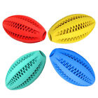 FM_ EE_ DV_ Fashion Rubber Rugby Ball Puppy Teeth Chewing Tooth Cleaning Food To
