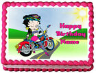 BETTY BOOP Motorcicle Party Edible Cake topper image $13.5 USD on eBay