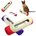 FM_ QA_ PET CAT KITTEN TOY ROLLING SISAL SCRATCHING POST 3 TRAPPED BALL TRAIN TO