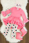 US Kids Baby Girl Clothes Toddler Long Sleeve T-shirt Tops+Pants Leggings Outfit