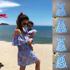 New Mother Daughter Matching Dresses Summer Women Dress Girl Clothes Outfit