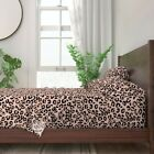Leopard Spots Animal Camouflage Cat 100% Cotton Sateen Sheet Set by Roostery