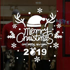 Merry Christmas Vinyl Art Home Window Store Shop Wall Stickers Decal Decoration