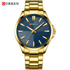 Curren Casual Watches Men's Sport Wrist Watch Quartz Stainless Steel Mesh Band image