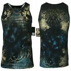ARCHAIC by AFFLICTION Men T-Shirt NEWMAN TANK Wing Biker MMA Gym S-5XL $33 image