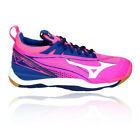 Mizuno Womens Wave Mirage 2 Indoor Court Shoes Blue Pink White Sports Handball