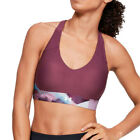 Under Armour Womens Vanish Mid Print Bra Purple Sports Running Gym Boxing