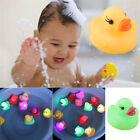 Baby Bath time Tub Toy Flashing Rubber Ducks LED Coloured Light Up Watertight
