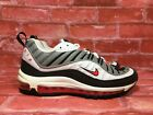 NIKE WOMEN'S AIR MAX 98 WHITE SOLAR RED DUST AH6799-104 SIZE 8/9/10.5