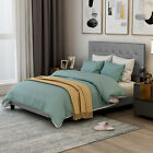 Twin/Full/Queen/King Size Wood Platform Bed Frame w/Tufted Headboard Upholstered