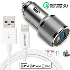 Car Charger Qualcomm QC 3.0 Quick Charge 2.4A 36W USB Cigarette Lighter Adapter