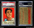 1952 Topps #116 Carl Scheib Break in lower left border Athletics PSA 5 - EX