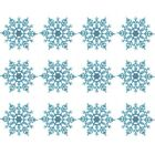 Купить 12Pc Plastic Snowflake Design Christmas Ornaments Xmas Tree Garland Decor US