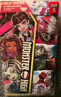 Moster High Girls' Panties. Pack Of 7 New  In Package Size 6