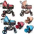 Kyпить Baby Stroller 3 In 1 Newborn Foldable Pushchair High Landscape Pram Car Seat на еВаy.соm