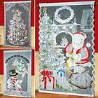 Merry Christmas Led Lights Hanging Door Curtain Home Party Xmas Decoration Au