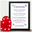 Personalised Friendship Quote Birthday Gifts for Best Friends My Friend Is You