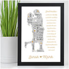 PERSONALISED Anniversary Gifts for Boyfriend Girlfriend Husband Wife Couples Her