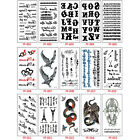 Classic Black Letter Fake Tattoo Hand Body Waterproof Temporary Tattoo Sticker. $6.77 USD on eBay